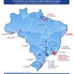Mapa do Ranking Brasileiro de Saneamento