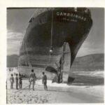 Navio Camboinhas (que encalhou e deu nome à praia) - 1958